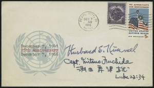 Sale Number 1037, Lot Number 2707, Autographs & Free Franks, Colonial, States, Waterway & ShipAdmiral H. E. Kimmel and Capt. Mitsuo Fuchida, Admiral H. E. Kimmel and Capt. Mitsuo Fuchida