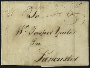 "Sale Number 1037, Lot Number 2709, Autographs & Free Franks, Colonial, States, Waterway & Ship(Philadelphia Pa., 1766) ""Phi 6"", (Philadelphia Pa., 1766) ""Phi 6"""