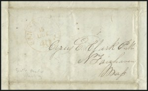 "Sale Number 1037, Lot Number 2728, Autographs & Free Franks, Colonial, States, Waterway & Ship""Ship Wm. & Eliza, off the island Ohevahoa, Aug. 19, 1850"", ""Ship Wm. & Eliza, off the island Ohevahoa, Aug. 19, 1850"""