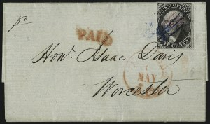 "Sale Number 1037, Lot Number 2731, Postmasters` Provisional thru 1857 IssueNew York N.Y., 5c Black, ""AC M"" Initials (9X1a), New York N.Y., 5c Black, ""AC M"" Initials (9X1a)"