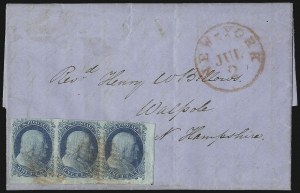 Sale Number 1037, Lot Number 2742, Postmasters` Provisional thru 1857 Issue1c Blue, Ty. II (7), 1c Blue, Ty. II (7)