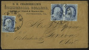 Sale Number 1037, Lot Number 2745, Postmasters` Provisional thru 1857 Issue1c Blue, Ty. IIIa (8A), 1c Blue, Ty. IIIa (8A)