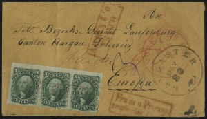 Sale Number 1037, Lot Number 2756, Postmasters` Provisional thru 1857 Issue10c Green, Ty. II (14), 10c Green, Ty. II (14)