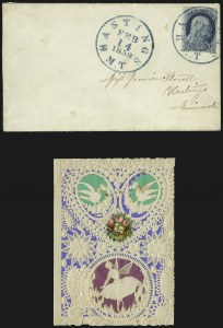 Sale Number 1037, Lot Number 2758, Postmasters` Provisional thru 1857 Issue1c Blue, Ty. IIIa (22), 1c Blue, Ty. IIIa (22)