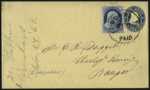 Sale Number 1037, Lot Number 2759, Postmasters` Provisional thru 1857 Issue1c Blue, Ty. IIIa (22), 1c Blue, Ty. IIIa (22)