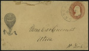 Sale Number 1037, Lot Number 2765, Postmasters` Provisional thru 1857 Issue3c Red on Buff (U10), 3c Red on Buff (U10)