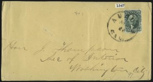 Sale Number 1037, Lot Number 2767, Postmasters` Provisional thru 1857 Issue10c Green, Ty. I (31), 10c Green, Ty. I (31)