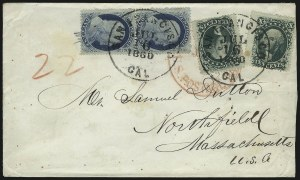 Sale Number 1037, Lot Number 2768, Postmasters` Provisional thru 1857 Issue10c Green, Ty. V (35), 10c Green, Ty. V (35)