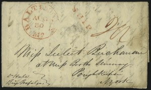 "Sale Number 1037, Lot Number 2879, Slavery and the Civil War, Slave Related, Liberia, Anti Slavery""Monrovia (Liberia) 3rd July 1840"", ""Monrovia (Liberia) 3rd July 1840"""