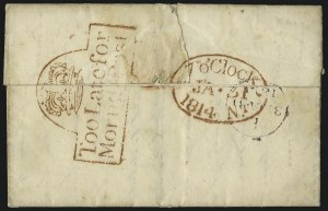 Sale Number 1037, Lot Number 2939, Great Britain: Postal History, Parliament Entires and MulreadysGREAT BRITAIN, Too Late For Morning Post, GREAT BRITAIN, Too Late For Morning Post
