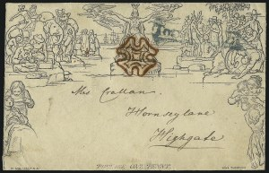 Sale Number 1037, Lot Number 2944, Great Britain: Postal History, Parliament Entires and MulreadysGREAT BRITAIN, 1840, 1p Black, Mulready (U1), GREAT BRITAIN, 1840, 1p Black, Mulready (U1)