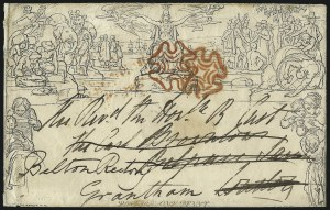 Sale Number 1037, Lot Number 2946, Great Britain: Postal History, Parliament Entires and MulreadysGREAT BRITAIN, 1840, 1p Black, Mulready (U1), GREAT BRITAIN, 1840, 1p Black, Mulready (U1)