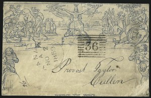 Sale Number 1037, Lot Number 2948, Great Britain: Postal History, Parliament Entires and MulreadysGREAT BRITAIN, 1840, 2 Blue, Mulready (U2), GREAT BRITAIN, 1840, 2 Blue, Mulready (U2)
