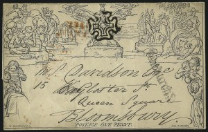 Sale Number 1037, Lot Number 2952, Great Britain: Postal History, Parliament Entires and MulreadysGREAT BRITAIN, 1840, 1p Black, Mulready Letter Sheet (U3), GREAT BRITAIN, 1840, 1p Black, Mulready Letter Sheet (U3)