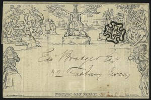 Sale Number 1037, Lot Number 2953, Great Britain: Postal History, Parliament Entires and MulreadysGREAT BRITAIN, 1840, 1p Black, Mulready Letter Sheet (U3), GREAT BRITAIN, 1840, 1p Black, Mulready Letter Sheet (U3)