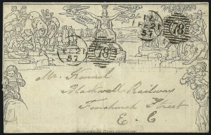 Sale Number 1037, Lot Number 2955, Great Britain: Postal History, Parliament Entires and MulreadysGREAT BRITAIN, 1840, 1p Black, Mulready Letter Sheet (U3), GREAT BRITAIN, 1840, 1p Black, Mulready Letter Sheet (U3)