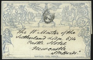 Sale Number 1037, Lot Number 2956, Great Britain: Postal History, Parliament Entires and MulreadysGREAT BRITAIN, 1840, 2p Blue, Mulready Lettersheet (U4), GREAT BRITAIN, 1840, 2p Blue, Mulready Lettersheet (U4)