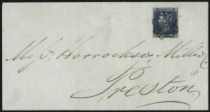 Sale Number 1037, Lot Number 3018, Great Britain: Stamps and BalancesGREAT BRITAIN, 1841, 2p Blue (4; SG 14), GREAT BRITAIN, 1841, 2p Blue (4; SG 14)