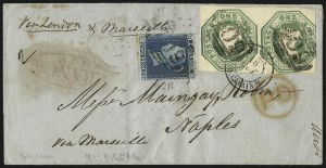 Sale Number 1037, Lot Number 3023, Great Britain: Stamps and BalancesGREAT BRITAIN, 1847, 1sh Green (5; SG 54), GREAT BRITAIN, 1847, 1sh Green (5; SG 54)