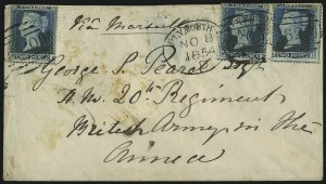 Sale Number 1037, Lot Number 3028, Great Britain: Stamps and BalancesGREAT BRITAIN, 1854, 2p Blue (10; SG 45), GREAT BRITAIN, 1854, 2p Blue (10; SG 45)