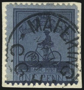 Sale Number 1037, Lot Number 3074, Cape of Good Hope thru GermanyCAPE OF GOOD HOPE, MAFEKING, 1900, 1p Blue on Blue Laid, Maj. Goodyear (178; SG 17), CAPE OF GOOD HOPE, MAFEKING, 1900, 1p Blue on Blue Laid, Maj. Goodyear (178; SG 17)