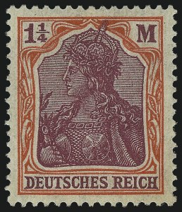 Sale Number 1037, Lot Number 3083, Cape of Good Hope thru GermanyGERMANY, 1920, 1-1/4m Vermilion and Magenta, Watermarked Quatrefoils (210), GERMANY, 1920, 1-1/4m Vermilion and Magenta, Watermarked Quatrefoils (210)