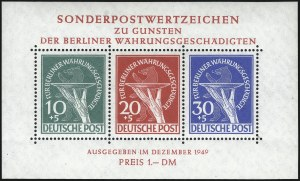 Sale Number 1037, Lot Number 3092, Cape of Good Hope thru GermanyGERMANY, BERLIN, 1949, Currency Victims Souvenir Sheet (9NB3a), GERMANY, BERLIN, 1949, Currency Victims Souvenir Sheet (9NB3a)