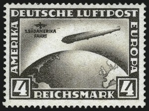 Sale Number 1037, Lot Number 3097, Cape of Good Hope thru GermanyGERMANY, 1930-31, 1m-4m South America and Polar Flights (C38-C42), GERMANY, 1930-31, 1m-4m South America and Polar Flights (C38-C42)
