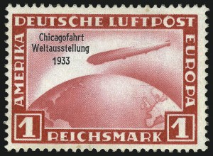 Sale Number 1037, Lot Number 3098, Cape of Good Hope thru GermanyGERMANY, 1933, 1m-4m Chicago Flight (C43-C45), GERMANY, 1933, 1m-4m Chicago Flight (C43-C45)