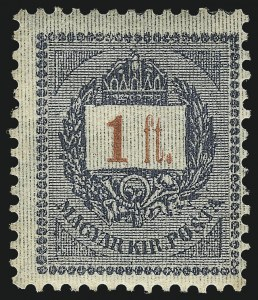 Sale Number 1037, Lot Number 3107, Hong Kong thru HungaryHUNGARY, 1888-98, 1k-3fo St. Stephen's Crown (22A-35), HUNGARY, 1888-98, 1k-3fo St. Stephen's Crown (22A-35)