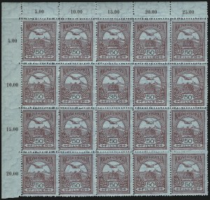 Sale Number 1037, Lot Number 3114, Hong Kong thru HungaryHUNGARY, 1913-16, 35f Lake on Blue, Cliche Error (96a), HUNGARY, 1913-16, 35f Lake on Blue, Cliche Error (96a)