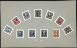Sale Number 1040, Lot Number 1091, Essays and Proofs (1870-90 Bank Note Issues, cont.)1c-90c 1890-93 Issue, Small Die Proofs on Wove (219P2, 220P2-229P2), 1c-90c 1890-93 Issue, Small Die Proofs on Wove (219P2, 220P2-229P2)