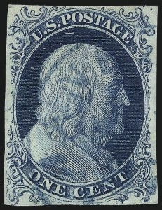 Sale Number 1040, Lot Number 1182, 1c-12c 1851-56 Issue (Scott 5A-17)1c Blue, Ty. Ib (5A), 1c Blue, Ty. Ib (5A)