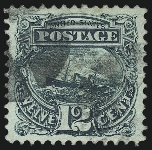 Sale Number 1040, Lot Number 1369, 1869 Pictorial Issue and 1875 Re-Issue (Scott 112-133a)12c Green (117), 12c Green (117)