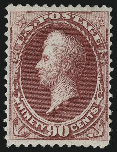 Sale Number 1040, Lot Number 1398, 1870-71 Bank Note Issue (Scott 134-154)90c Carmine, H. Grill (144), 90c Carmine, H. Grill (144)