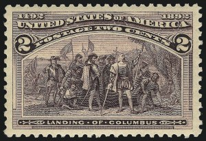 Sale Number 1040, Lot Number 1476, 1893 Columbian Issue, 1c thru 50c, Singles (Scott 230-240)2c Columbian (231), 2c Columbian (231)