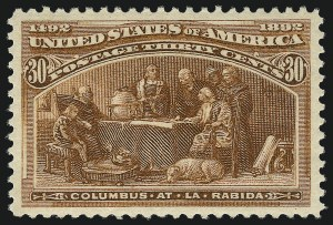 Sale Number 1040, Lot Number 1490, 1893 Columbian Issue, 1c thru 50c, Singles (Scott 230-240)30c Columbian (239), 30c Columbian (239)