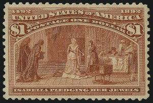 Sale Number 1040, Lot Number 1495, 1893 Columbian Issue, $1.00-$5.00, Singles (Scott 241-245)$1.00 Columbian (241), $1.00 Columbian (241)