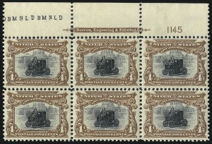 Sale Number 1040, Lot Number 1632, 1901 Pan-American Issue incl. Multiples (Scott 294-299)4c Pan-American (296), 4c Pan-American (296)