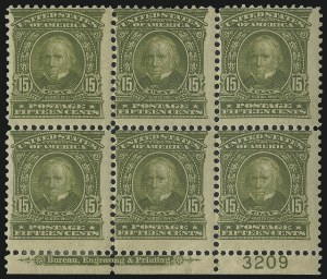 Sale Number 1040, Lot Number 1657, 1902-08 Issues (Scott 300-320)15c Olive Green (309), 15c Olive Green (309)