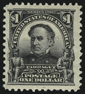 Sale Number 1040, Lot Number 1661, 1902-08 Issues (Scott 300-320)$1.00 Black (311), $1.00 Black (311)