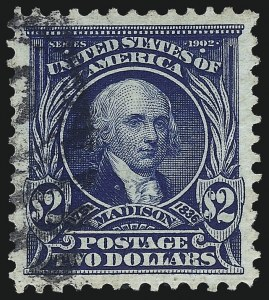 Sale Number 1040, Lot Number 1669, 1902-08 Issues (Scott 300-320)$2.00 Dark Blue (312), $2.00 Dark Blue (312)