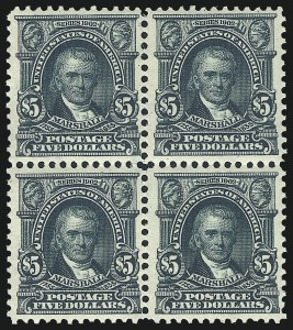 Sale Number 1040, Lot Number 1671, 1902-08 Issues (Scott 300-320)$5.00 Dark Green (313), $5.00 Dark Green (313)