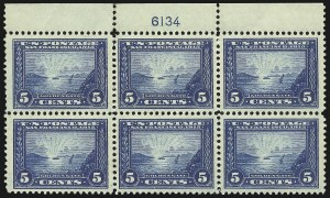 Sale Number 1040, Lot Number 1772, Panama-Pacific Issue (Scott 397-404)5c Panama-Pacific (399), 5c Panama-Pacific (399)