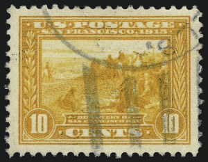 Sale Number 1040, Lot Number 1773, Panama-Pacific Issue (Scott 397-404)10c Orange Yellow, Panama-Pacific (400), 10c Orange Yellow, Panama-Pacific (400)
