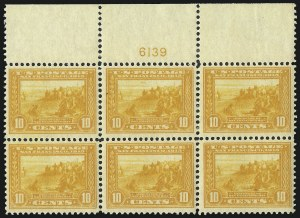 Sale Number 1040, Lot Number 1775, Panama-Pacific Issue (Scott 397-404)10c Orange Yellow, Panama-Pacific (400), 10c Orange Yellow, Panama-Pacific (400)