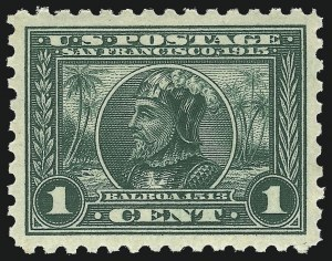 Sale Number 1040, Lot Number 1777, Panama-Pacific Issue (Scott 397-404)1c Panama-Pacific, Perf 10 (401), 1c Panama-Pacific, Perf 10 (401)
