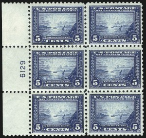 Sale Number 1040, Lot Number 1779, Panama-Pacific Issue (Scott 397-404)5c Panama-Pacific, Perf 10 (403), 5c Panama-Pacific, Perf 10 (403)