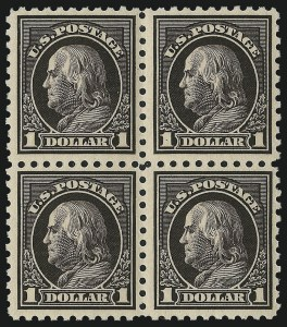 Sale Number 1040, Lot Number 1839, 1914-15 Issues (Scott 445-461)$1.00 Violet Black (460), $1.00 Violet Black (460)