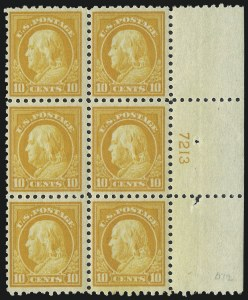 Sale Number 1040, Lot Number 1854, 1916-17 Issues (Scott 462-491)10c Orange Yellow (472), 10c Orange Yellow (472)